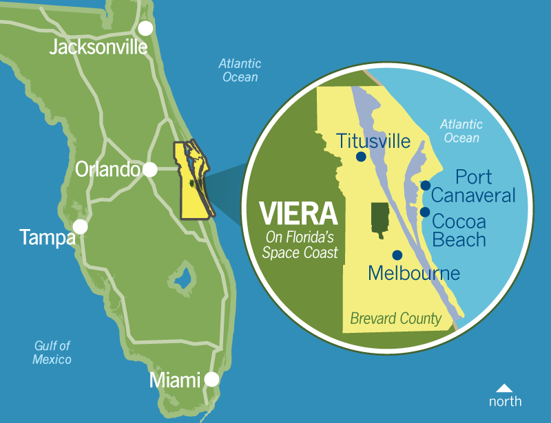 Atlantic Coast Florida Map.Business Commercial Viera Fl Office Land Florida S Space