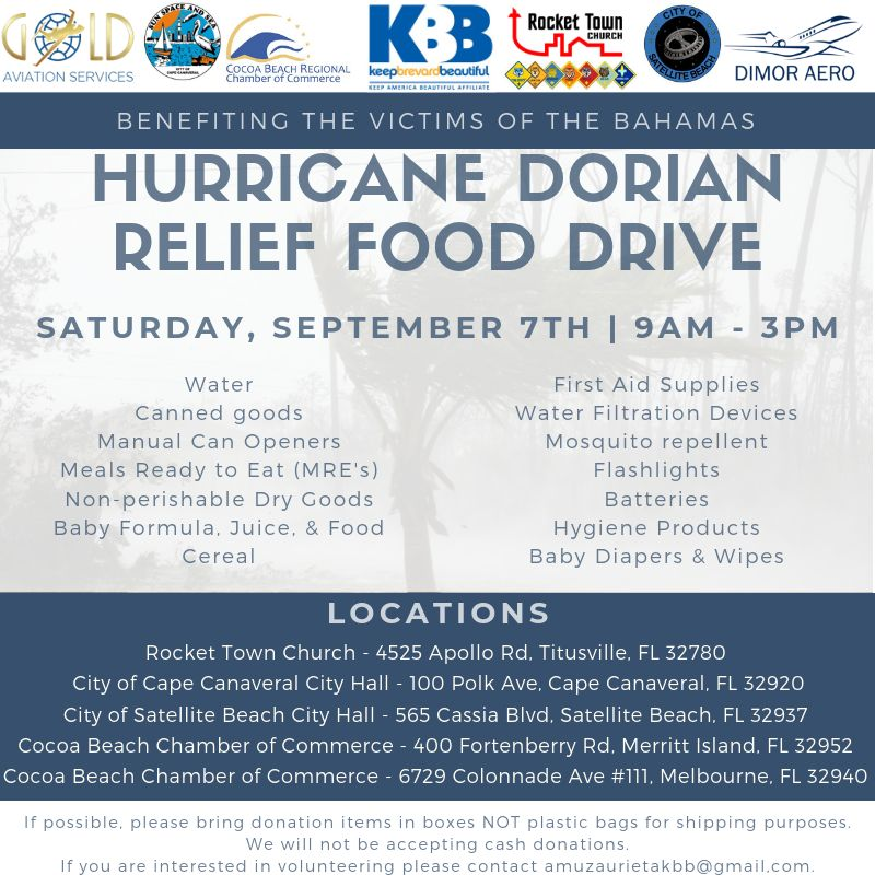 Hurricane Dorian Relief Food Amp Supply Drive The Avenue